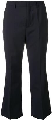Miu Miu side stripe cropped trousers