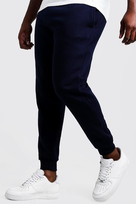 boohoo Mens Navy Big and Tall Basic Skinny Fit Jogger, Navy