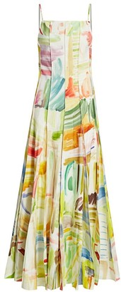 Rosie Assoulin Million Pleats Printed Gown