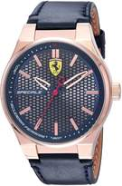 Ferrari Men's 830416 Sport Speciale 3h 44mm Rg Round Case Leather Strap Sunray Dial/ Honeycomb Watch