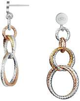 Links of London Aurora Silver, Gold & Rose Vermeil Earrings 5040.2226