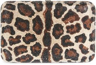 Judith Leiber Crystal Leopard Box Clutch