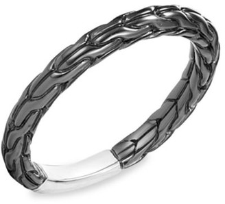 John Hardy Classic Chain Blackened Sterling Silver Ring