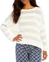 Roxy Positive Mind Mixed Yarn Boxy Sweater