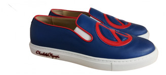 Charlotte Olympia Blue Leather Trainers
