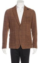 Sacai Plaid Notch-Lapel Blazer