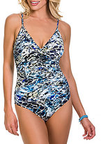 Magicsuit Sea Glass Thamar V-Neck Tummy Control One-Piece