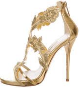 Oscar de la Renta Tatum Metallic Sandals w/ Tags