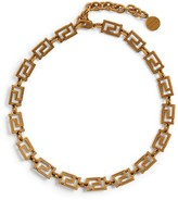 Versace Tribute Greca Chain Choker Necklace