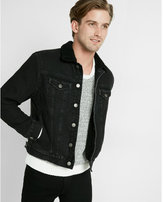 Express sherpa lined denim jacket