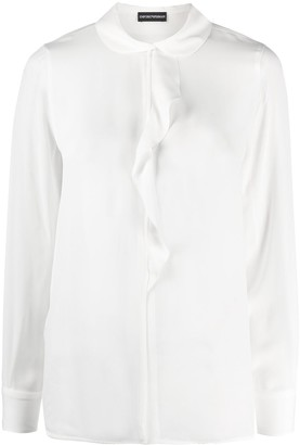 Emporio Armani Peter Pan Ruffled Blouse