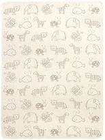 NEW David Fussenegger Animals Cot Blanket Beige/Taupe