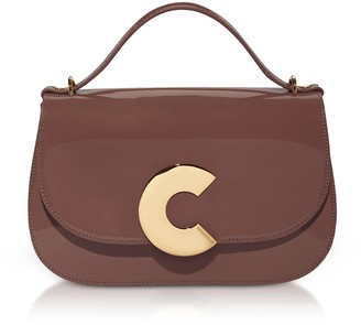 Coccinelle Craquante Patent Maxi Leather Satchel Bag