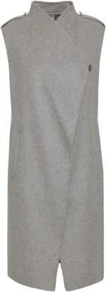 Soia & Kyo Linna Brushed Wool-blend Felt Gilet