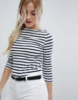 New Look Fitted Breton Stripe Top