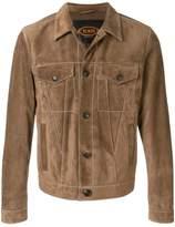 Tod's suede trucker jacket