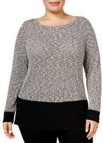 I.N.C International Concepts Plus Colourblocked Sweater