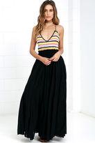 Raga x Lulus Private Island Black Crochet Maxi Dress