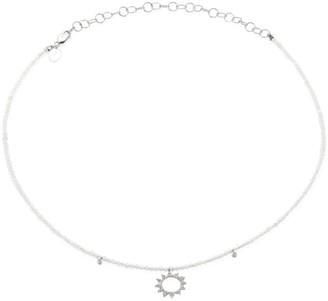 Meira T Sunburst Diamond, Moonstone & 14K White Gold Choker