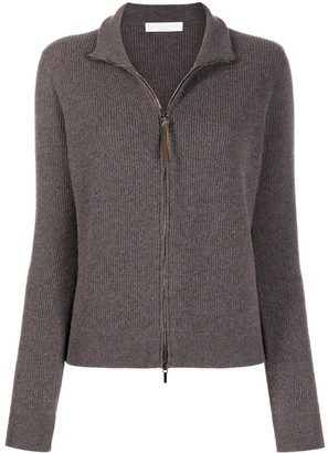 Fabiana Filippi Fine Knit Double Zip Cardigan