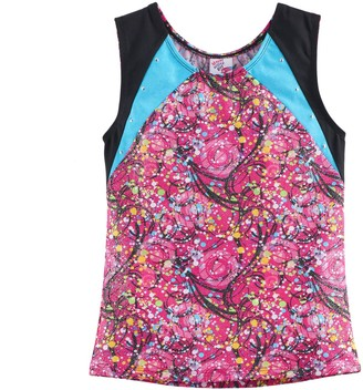 Jacques Moret Girls 4-14 Amazing Dots Dance Tank Top