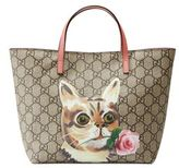 Gucci Girl's GG Supreme Cat Tote