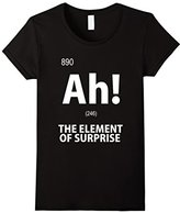 Element Women's Ah! The of Surprise T-Shirt Funny Chemistry Tee XL