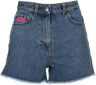GCDS Logo Denim Shorts