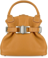 Buti Camel Italian Pebble Leather Small Handbag