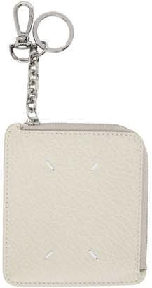Maison Margiela Off-White Key Chain Card Holder