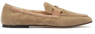 Tod's Double-t Suede Loafers - Beige