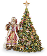 Jay Strongwater Santa with Christmas Tree Music Box