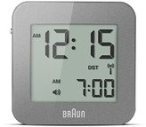 Braun Digital Travel Alarm Clock - Grey