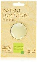 Andalou Naturals Instant Luminous Clay Mask, 0.28 Ounce