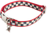 Mackenzie Childs MacKenzie-Childs Large Courtly Check Couture Red Dog Collar