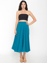 American Apparel Vintage Flowy Silk Mid-Length Skirt
