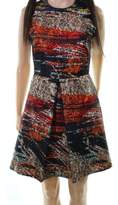 Hunter Bell Black Red Women's Size 0 Abstract Print Sheath Dress
