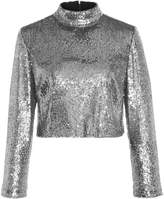A.L.C. Keegan Sequined Cropped Top