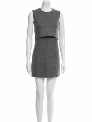 DSQUARED2 Crew Neck Mini Dress w/ Tags Grey