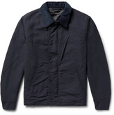 Engineered Garments Corduroy-trimmed Cotton-doublecloth Jacket - Midnight blue