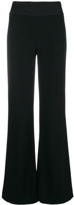 Galvan High Waist Flared Trousers