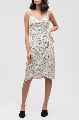 J.o.a. Speckled Wrap Dress