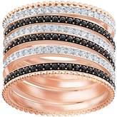 Swarovski Lollypop Ring, Black, Rose gold plating