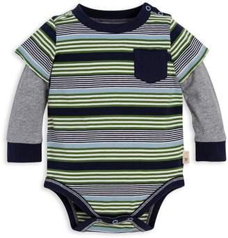 Burt's Bees Multi Variegated Stripe Organic Baby 2Fer Bodysuit