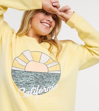 Daisy Street Plus oversized sweatshirt with california graphic