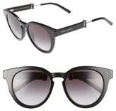 Marc Jacobs Women's 50Mm Round Sunglasses - Black