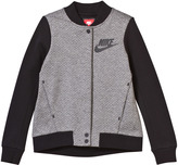 Nike Grey and Black Tech Fleece Jacket