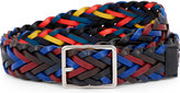 Paul Smith Reversible plaited leather belt