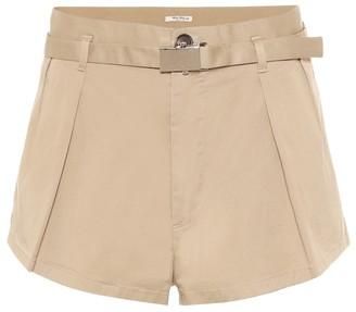 Miu Miu High-rise stretch-cotton shorts