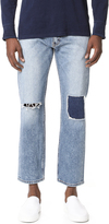 Levi's Pieced and Cropped 505 Denim Jeans
